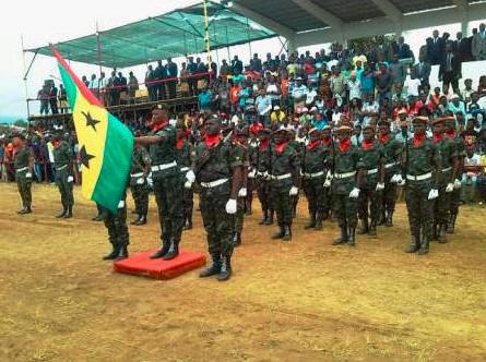 Resultado de imagem para juramento de bandeira de São Tomé e Príncipe